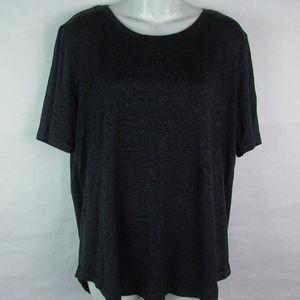 Matty M T-Shirt Tee Loose Fit Split Back XL Black